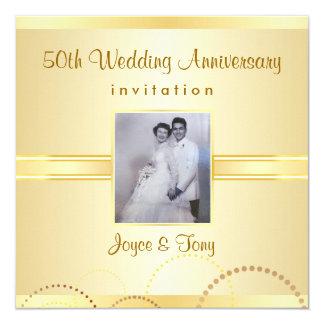50th Anniversary Party Invitation - Photo Optional