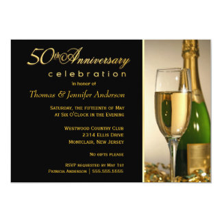 50th Anniversary Party Invitations with Monogram