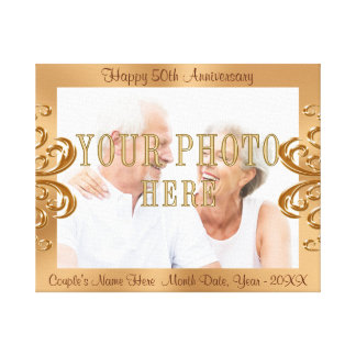 50th Anniversary PHOTO Canvas with Names and Dates Canvas Print
