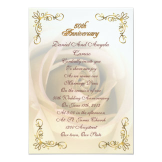 50th Anniversary Sepia rose Card