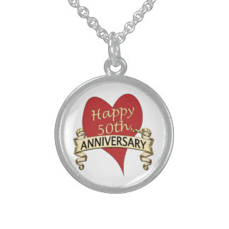 50th. Anniversary Sterling Silver Necklace