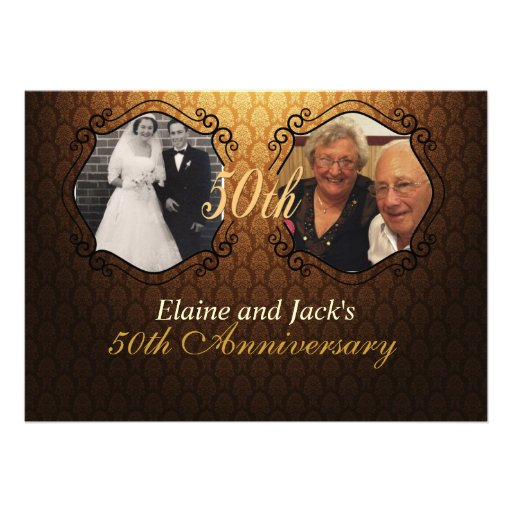 50th Anniversary Wedding Photo Invitation