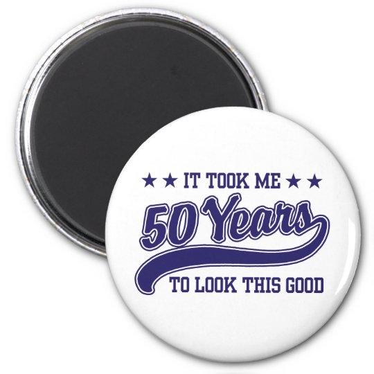 50th Birthday 6 Cm Round Magnet