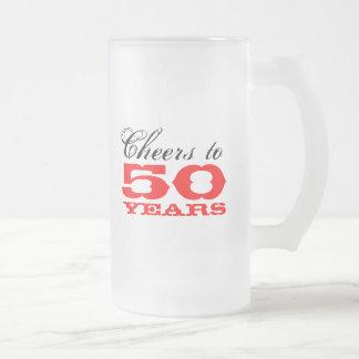50th Birthday Beer Mug Gift for men