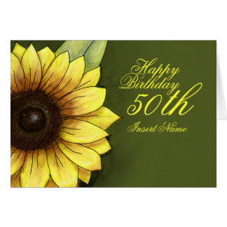 50th Birthday Floral Card