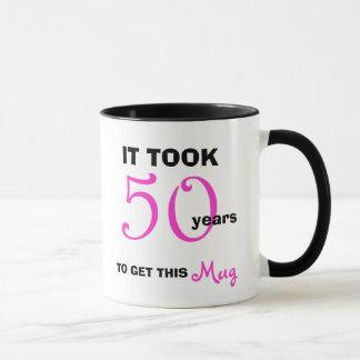 50th Birthday Gift Ideas for Women Mug - Funny