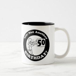 50th Birthday Gifts Two-Tone Coffee Mug