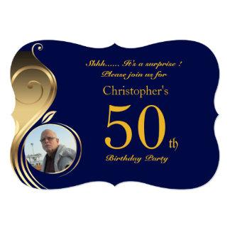 50th,Birthday Invitation Man Anyage,Photo,all shap