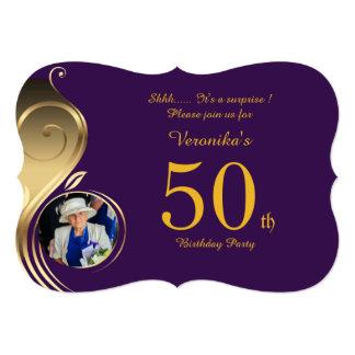 50th,Birthday Invitation Woman Any age,Photo,shape