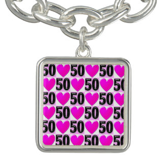 50TH BIRTHDAY LOVE HEARTS
