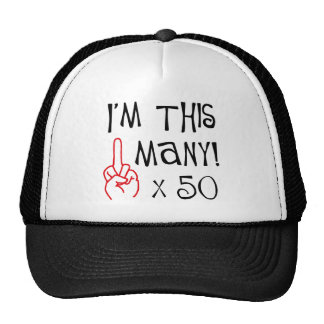 50th birthday Middle Finger Salute Cap