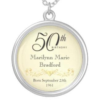 50th Birthday Necklace Keepsake Pendant