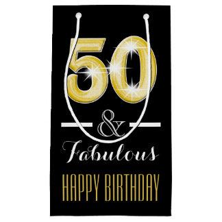 50th Fiftieth birthday men women | Small Small Gift Bag