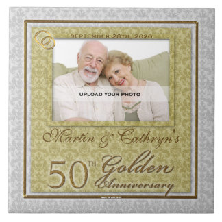 50th Golden Anniversary Photo Tile
