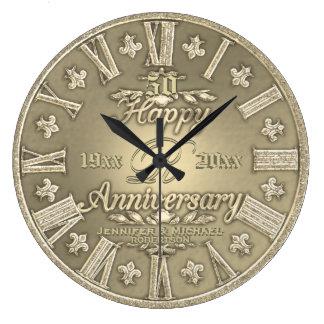 50th Golden Wedding Anniversary Clock