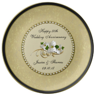 50th Golden Wedding Anniversary Decorative Plate