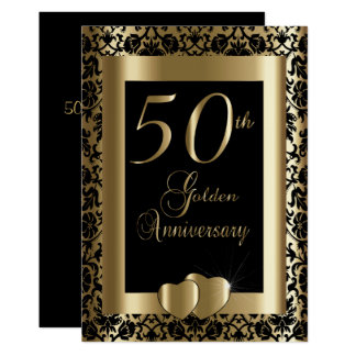 50th Golden Wedding Anniversary | DIY Text Card