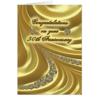 50th Golden Wedding Anniversary Greeting Card
