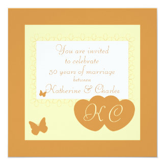 50th Golden Wedding Anniversary Invitation