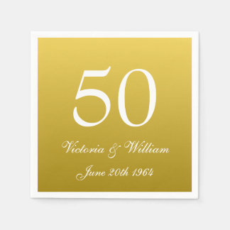 50th Golden Wedding Anniversary Party Napkins Paper Napkin
