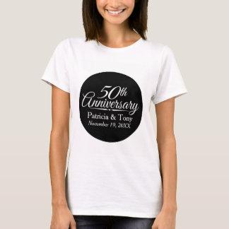50th Golden Wedding Anniversary Personalised T-Shirt