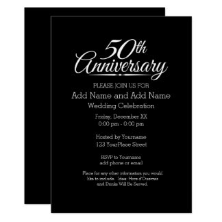 50th Golden Wedding Anniversary Personalized Card