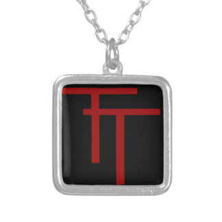 50th Infantry Division Silver Plated Necklace