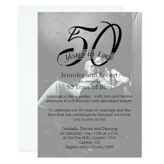 50th Photo Wedding Anniversary Invitation