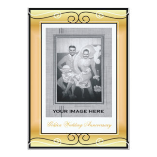50th Wedding Anniversary 13 Cm X 18 Cm Invitation Card