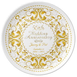 50th Wedding Anniversary 2 - Ceramic Plate Porcelain Plates
