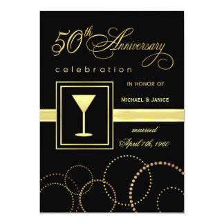 50th Wedding Anniversary Celebration - Modern 13 Cm X 18 Cm Invitation Card
