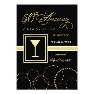 50th Wedding Anniversary Celebration - Modern Invitation