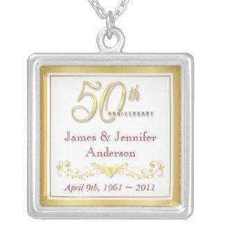 50th Wedding Anniversary Commemorative Pendant