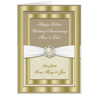 50th Wedding Anniversary Greeting Card