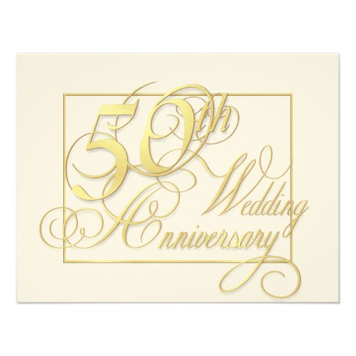 50th Wedding Anniversary - Inexpensive Invitations