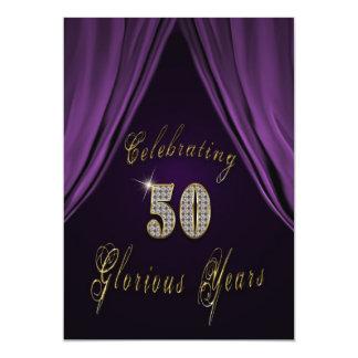 "50th Wedding Anniversary Invitation 5"" X 7"" Invitation Card"
