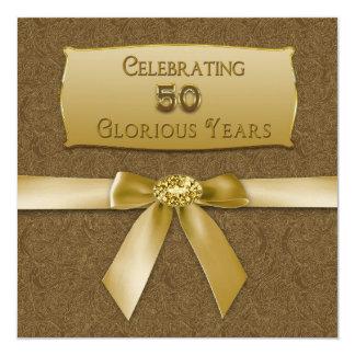 """50th Wedding Anniversary - Invitation - Celebrate 5.25"""" Square Invitation Card"""