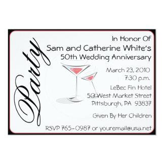 50th Wedding Anniversary Invitation Cocktails