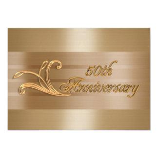 50th wedding anniversary invitation golden