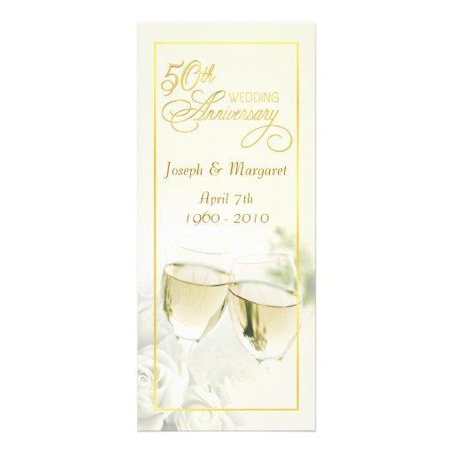 50th Wedding Anniversary Invitations - Tall Ivory