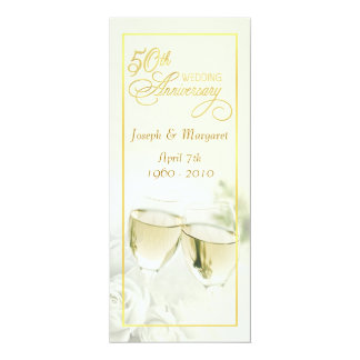 50th Wedding Anniversary Invitations - Tall Ivory