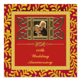 """50th Wedding Anniversary Party Invitation 5.25"""" Square Invitation Card"""