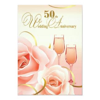 "50th Wedding Anniversary Party Invitations 5"" X 7"" Invitation Card"