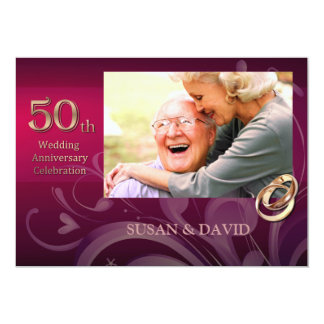50th Wedding Anniversary Party Invitations