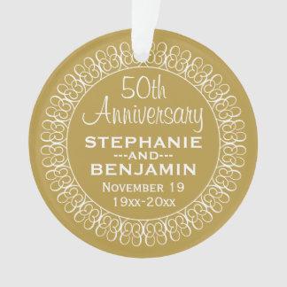 50th Wedding Anniversary Personalised Ornament