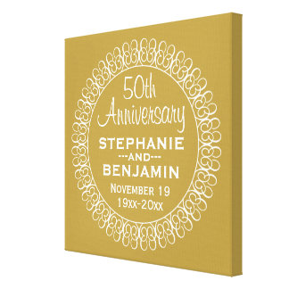 50th Wedding Anniversary Personalized Canvas Print