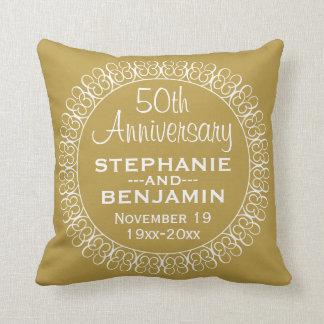 50th Wedding Anniversary Personalized Cushion