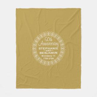50th Wedding Anniversary Personalized Fleece Blanket