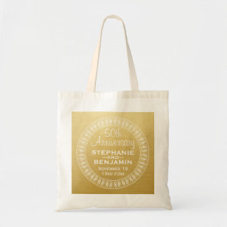 50th Wedding Anniversary Personalized gold