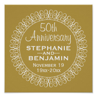50th Wedding Anniversary Personalized Print